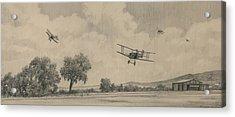 B Flights Back Acrylic Print by Wade Meyers