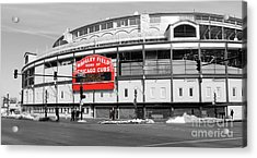 B-w Wrigley 100 Years Young Acrylic Print by David Bearden
