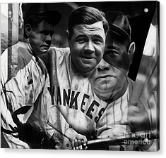 Babe Ruth Collection Acrylic Print by Marvin Blaine
