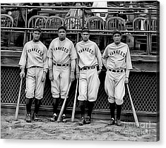 Babe Ruth Lou Gehrig And Joe Dimaggio Acrylic Print by Marvin Blaine
