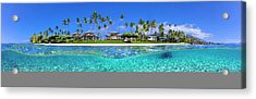 Baby Beach Above And Below Acrylic Print by Sean Davey