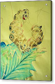 Baby Caterpillar Acrylic Print by Paulo Zerbato