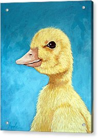 Baby Duck - Spring Duckling Acrylic Print by Linda Apple