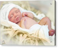 Baby Jesus Acrylic Print by Jennifer Hickey