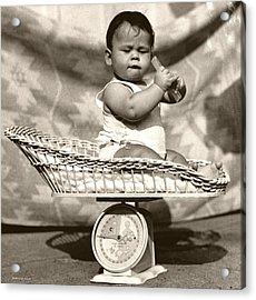 Baby Scale Acrylic Print by Daniel Napoli