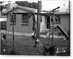 Backyard Swing Set..... Acrylic Print by WaLdEmAr BoRrErO