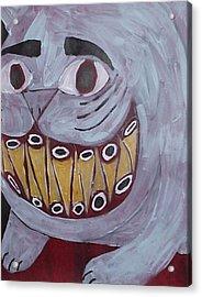 Bad Kitty Acrylic Print by William Douglas