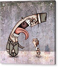 Bad Rich Man Acrylic Print by Autogiro Illustration