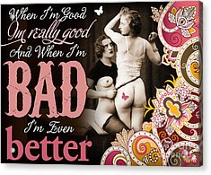Bad Seven Acrylic Print by Chris Andruskiewicz