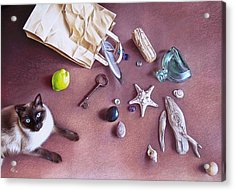 Bag Of Treasures Acrylic Print by Elena Kolotusha