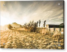 Bagdad Crisp Winter Countryside Acrylic Print by Jorgo Photography - Wall Art Gallery