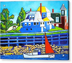 Bailey's Island Acrylic Print by Nicholas Martori