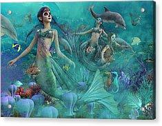 Bajo El Mar De Los Muertos  Acrylic Print by Betsy C Knapp