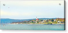 Bakers Island Lighthouse Acrylic Print by Michelle Wiarda