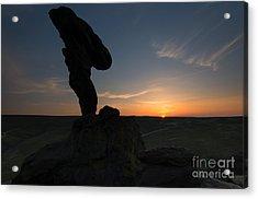 Balanced Rock Sundown Acrylic Print by Mike Dawson