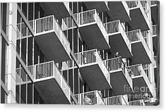 Balcony Colony Acrylic Print by WaLdEmAr BoRrErO