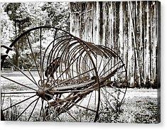 Bale The Hay Acrylic Print by Greg Sharpe
