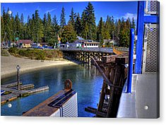 Balfour Bc Docks And Ferry  Acrylic Print by Lee  Santa