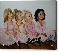 Ballerina Girls Acrylic Print by Joni McPherson