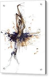 Ballet Obsession Or Raymonda Ballet Acrylic Print by Lousine Hogtanian