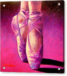 Ballet Shoes  II Acrylic Print by John  Nolan