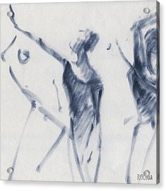 Ballet Sketch Arm Reaching Out Acrylic Print by Beverly Brown Prints