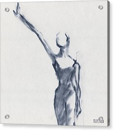 Ballet Sketch One Arm Extended Acrylic Print by Beverly Brown Prints