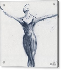 Ballet Sketch Open Arms Acrylic Print by Beverly Brown Prints