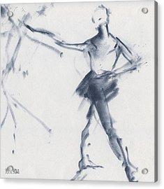Ballet Sketch Tendu Front Acrylic Print by Beverly Brown Prints