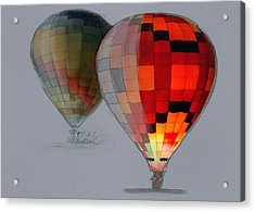 Balloon Glow Acrylic Print by Sharon Foster