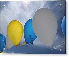Balloons Acrylic Print by Patrick M Lynch