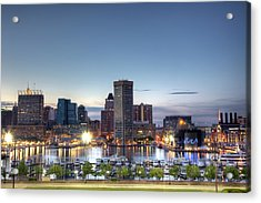 Baltimore Harbor Acrylic Print by Shawn Everhart