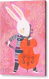 Cello Band Geek Acrylic Print by Kate Cosgrove