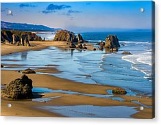 Bandon Beach Acrylic Print by Darren  White