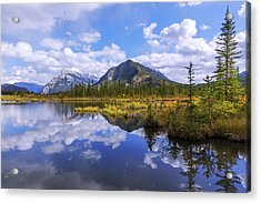 Banff Reflection Acrylic Print by Chad Dutson