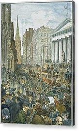 Bank Panic, 1884 Acrylic Print by Granger
