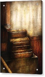 Banker - An Old Cash Register Acrylic Print by Mike Savad
