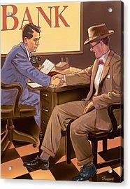 Banker Acrylic Print by Valer Ian