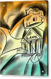 Banking Acrylic Print by Leon Zernitsky