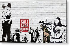 Banksy - The Tribute - Saints And Sinners Acrylic Print by Serge Averbukh