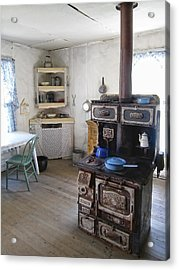 Bannack Ghost Town  Kitchen And Stove - Montana Territory Acrylic Print by Daniel Hagerman