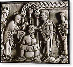 Baptism Of Clovis I, 496 A.d Acrylic Print by Granger