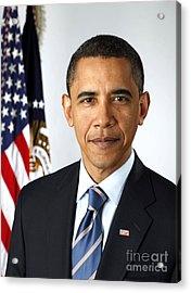 Barack Obama (1961- ) Acrylic Print by Granger