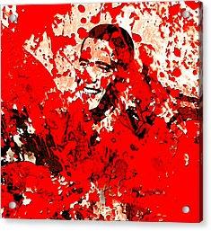 Barack Obama 44b Acrylic Print by Brian Reaves