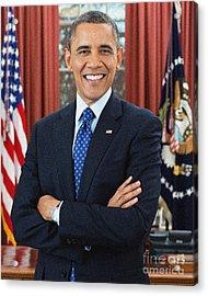 Barack Obama Acrylic Print by Celestial Images