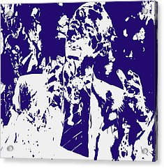 Barack Obama Paint Splatter 4a Acrylic Print by Brian Reaves