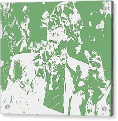 Barack Obama Paint Splatter 4c Acrylic Print by Brian Reaves