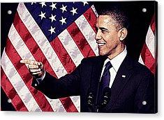 Barack Obama Acrylic Print by Iguanna Espinosa