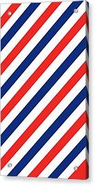 Barber Stripes Acrylic Print by Julia Jasiczak