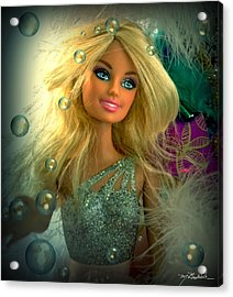 Barbie Bubbles In Hdr Acrylic Print by Melissa Wyatt